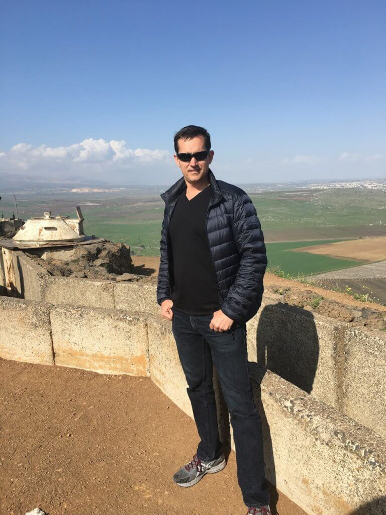 Rich at the Golan Heights in Israel looking into Syria - Real Estate Investing While Overseas in the Military