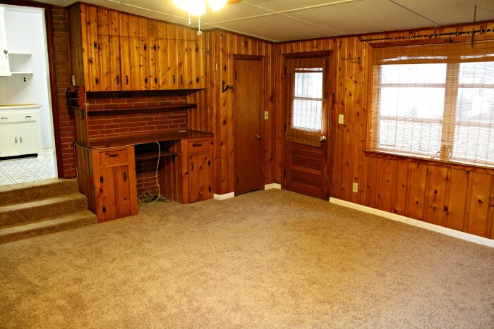 the den after cleaning and fixing up a bit - Real Estate Investing While Overseas in Military