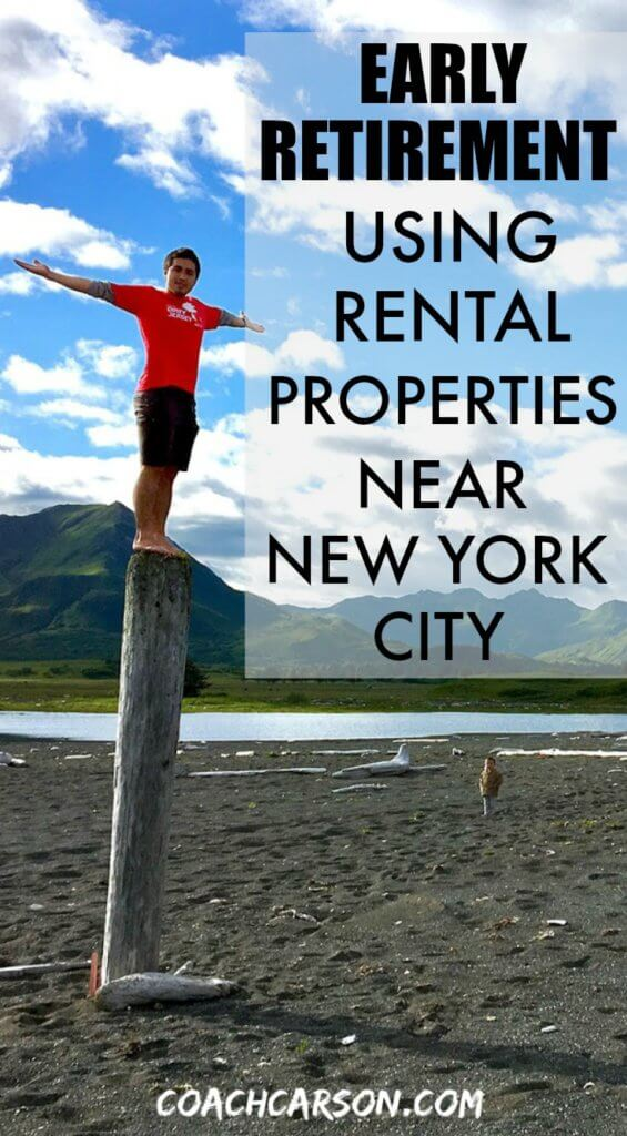 Early Retirement Using Rental Properties Near New York City - pinterest pin