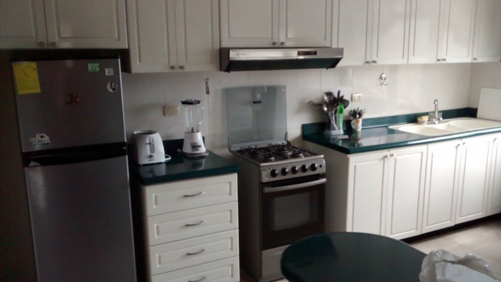 Kitchen (and a blender!) in our new apartment