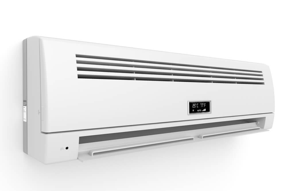 Inside wall-unit of mini-split HVAC system