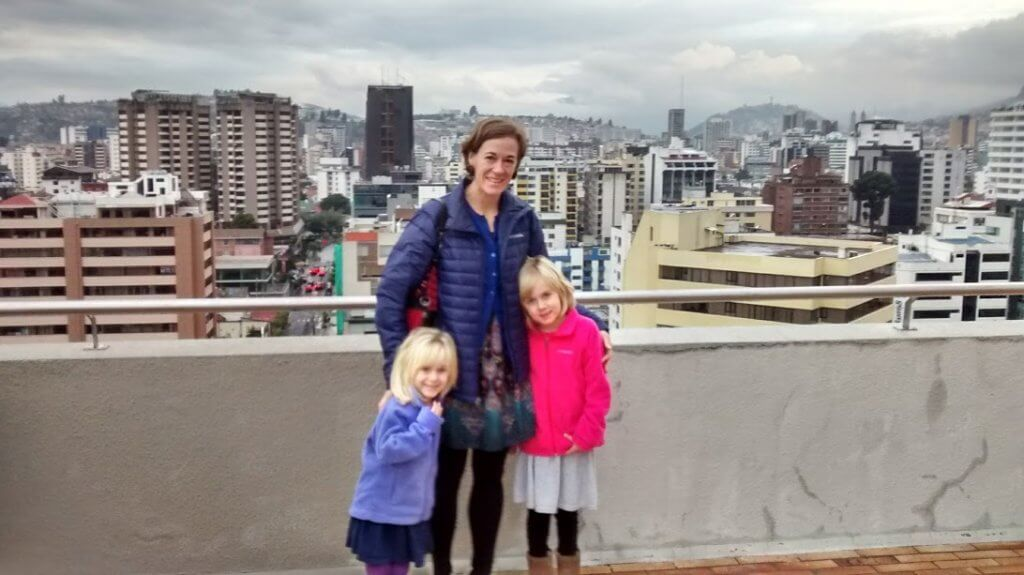 view from top of Quito hotel