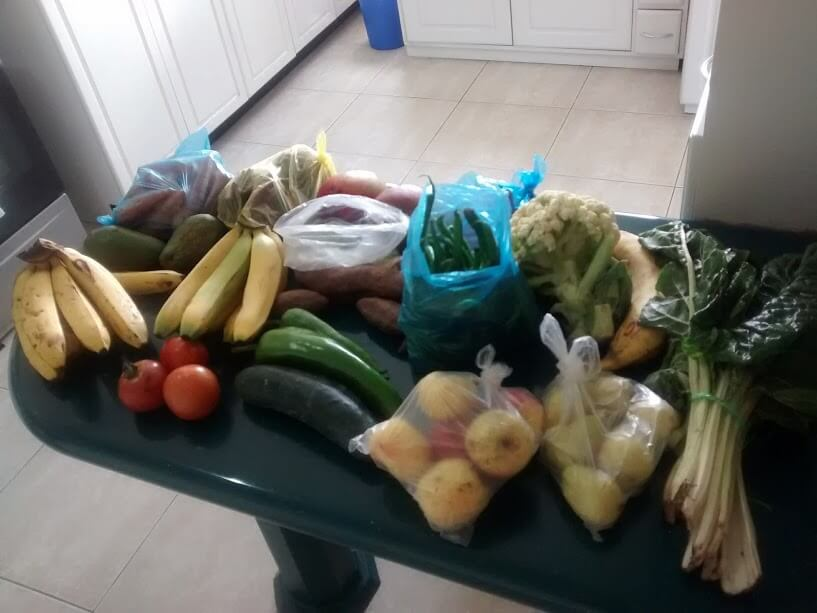 Abundance of fresh, inexpensive produce near our apartment