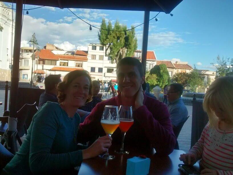 Enjoying Belgian Brew