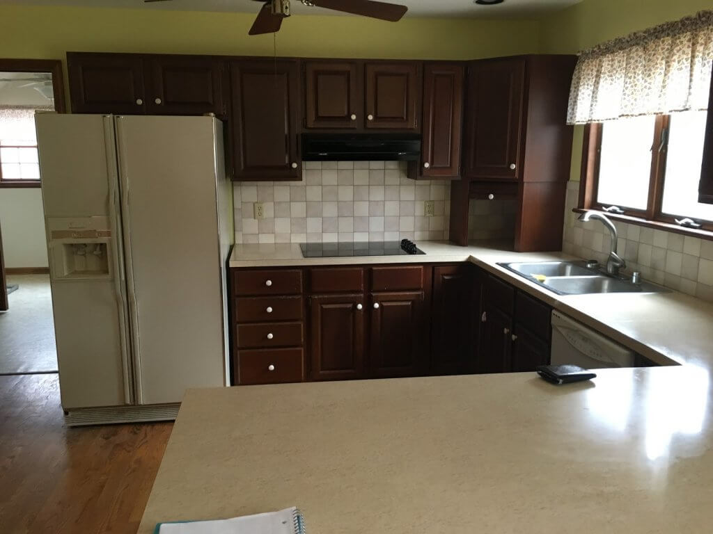 kitchen - new house - before - How a Busy Mom Found Financial Freedom Through Real Estate Investing