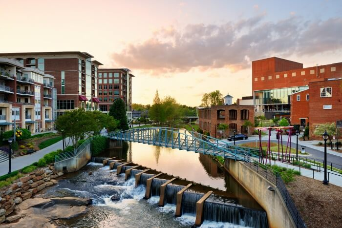 Surban Skyline - Greenville, South Carolina Reedy River Park - Big Shifts Ahead - Demographic Clarity For Businesses
