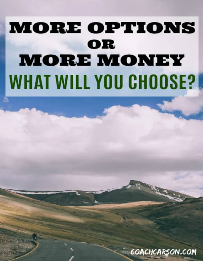 Pinterest Image - More Options or More Money