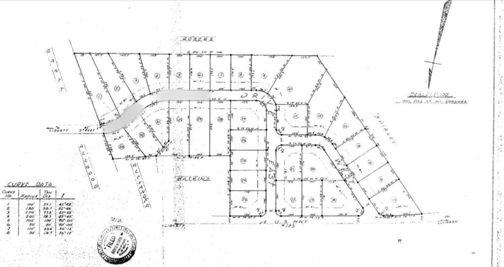 Title insurance - original subdivision survey
