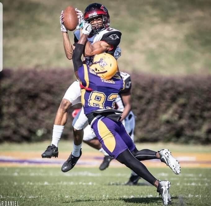 Julian playing football at Clark Atlanta University - Full Time Real Estate Wholesaler at 24 Years Old