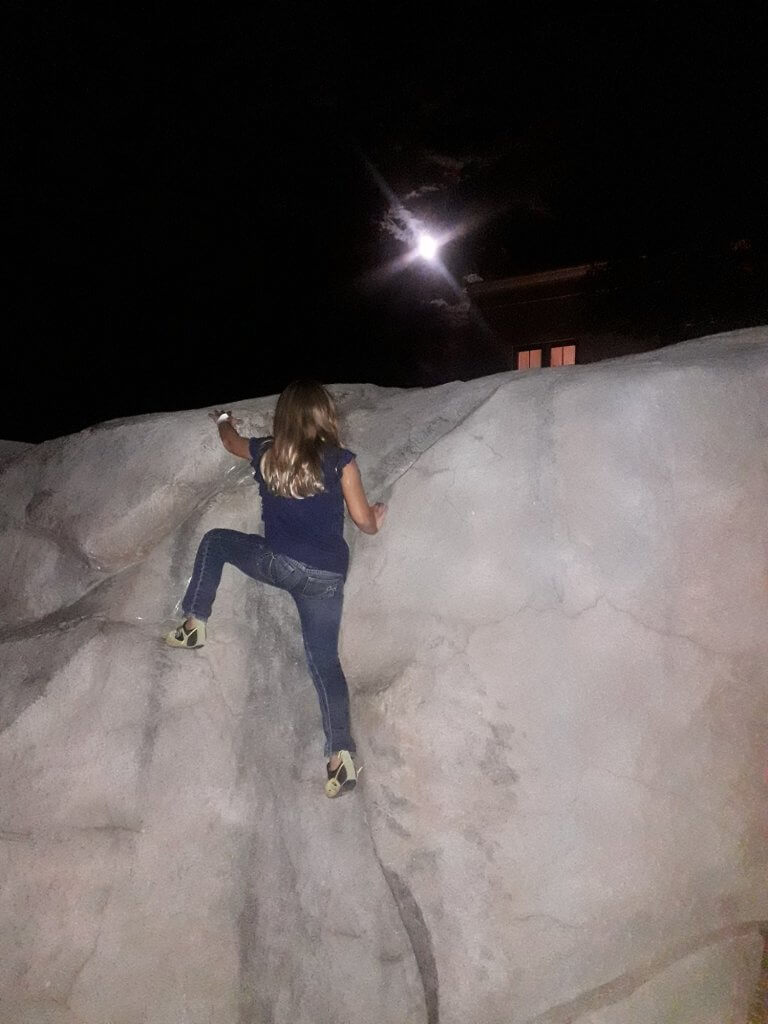 Chris Mamula - daughter rock climbing