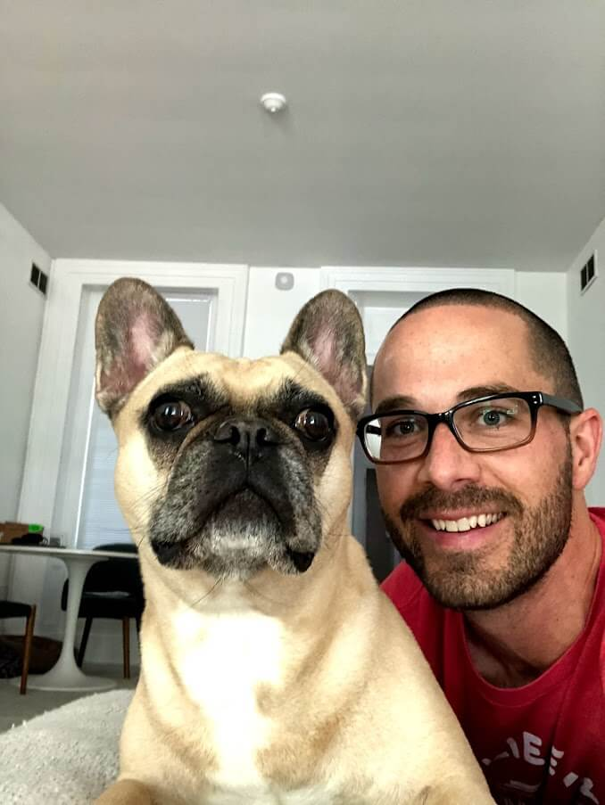 picture of Brent and his dog