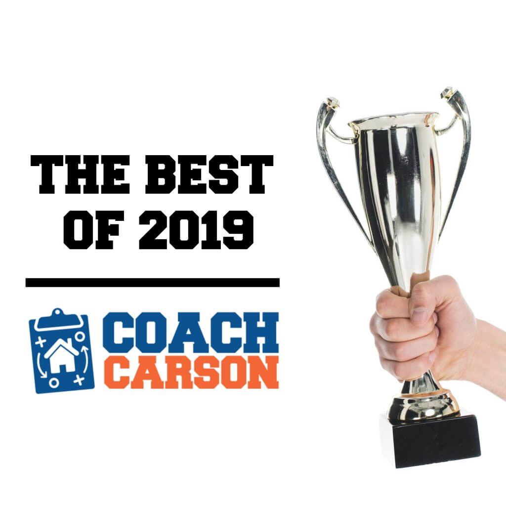 Best of Coach Carson - graphic with trophy