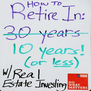 How to Retire in 10 Years With Real Estate Investing - square featured image
