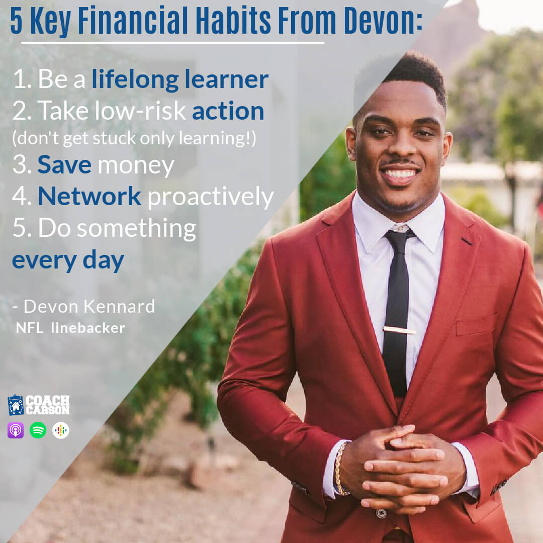 5 lessons for key financial habits from NFL linebacker Devon Kennard